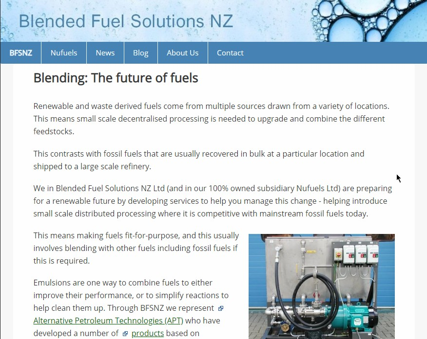 Blended Fuel Solutions NZ
