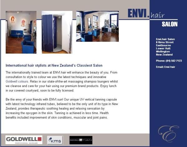 Envi Hair Salon webiste