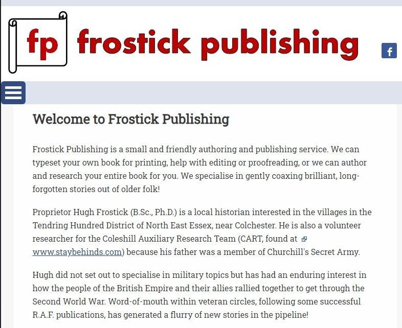 Frostick Publishing website
