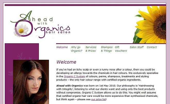 ahead with organics salon screenshot