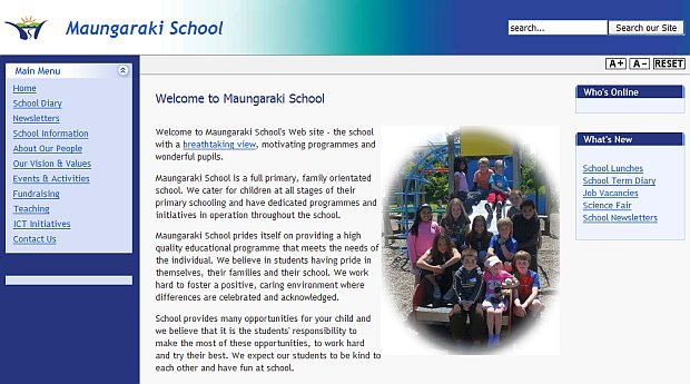 maungaraki school screen
