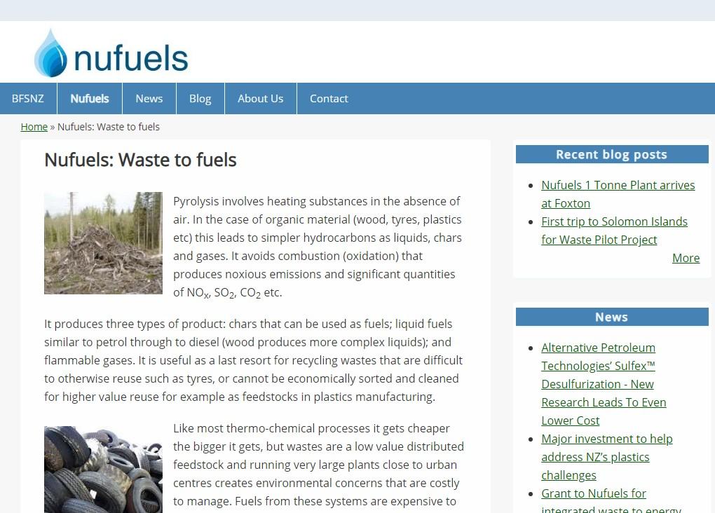 Nufuels screen