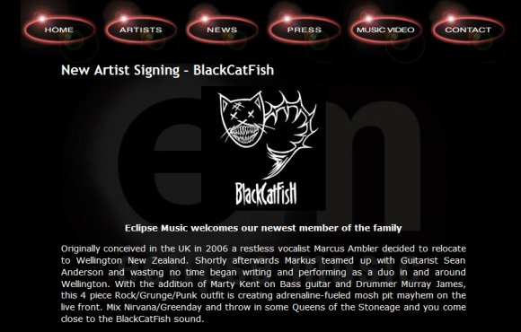 Eclipse Music record label screenshot